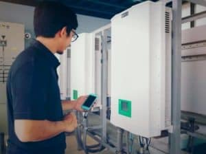 Controlling solar panels with a mobile phone
