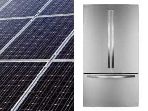 Fridge and Solar Panel