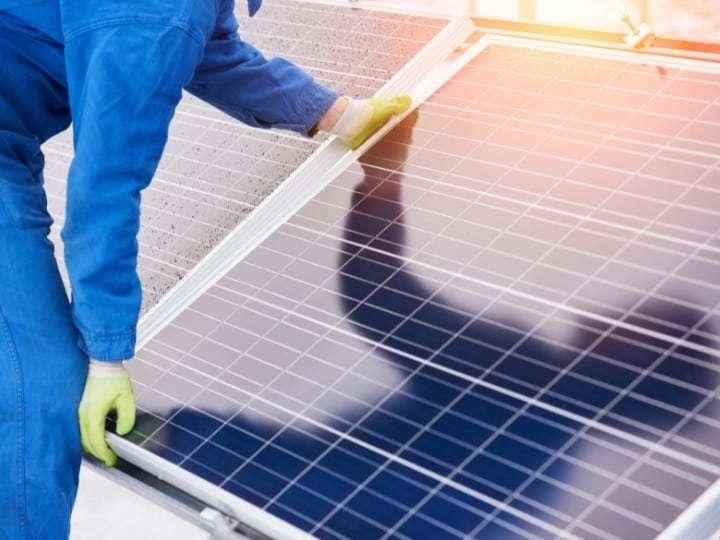 Installation of a solar panels KINGS Solar