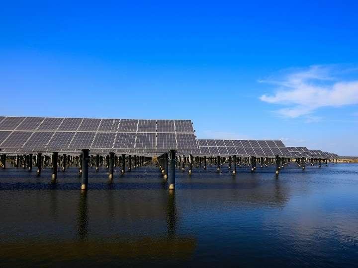 Off shore solar panels