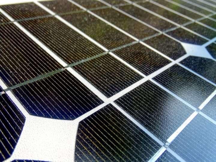 Solar Cells Close up of a solar panel