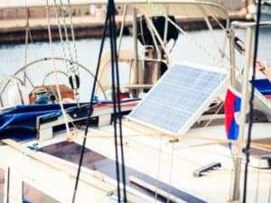 Solat Panel on a Yacht