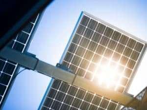 Underneath of Solar Panels