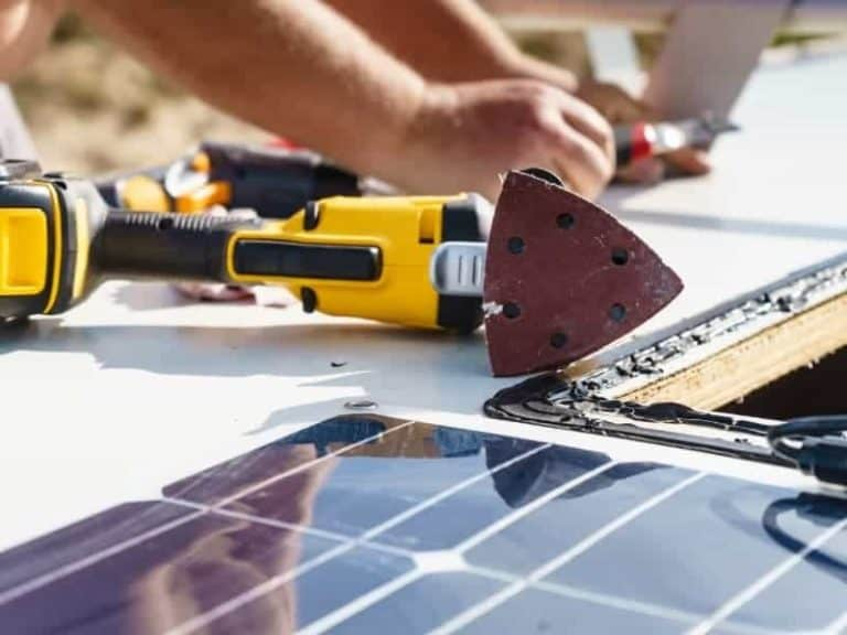 Glue and adhesive solar panel fixing