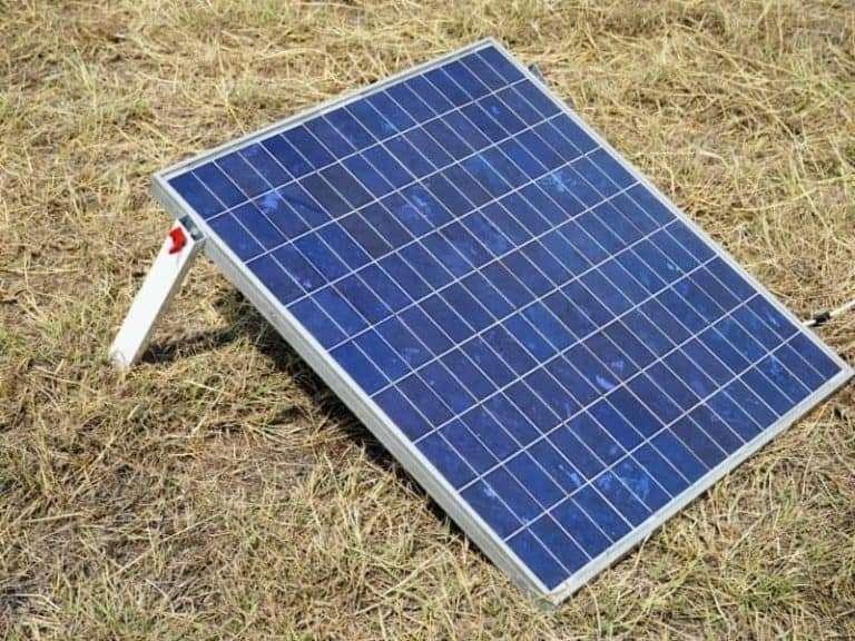 Portable Solar Panel Grass