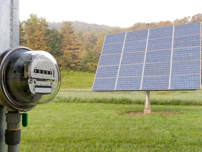 Solar Panel and Meter