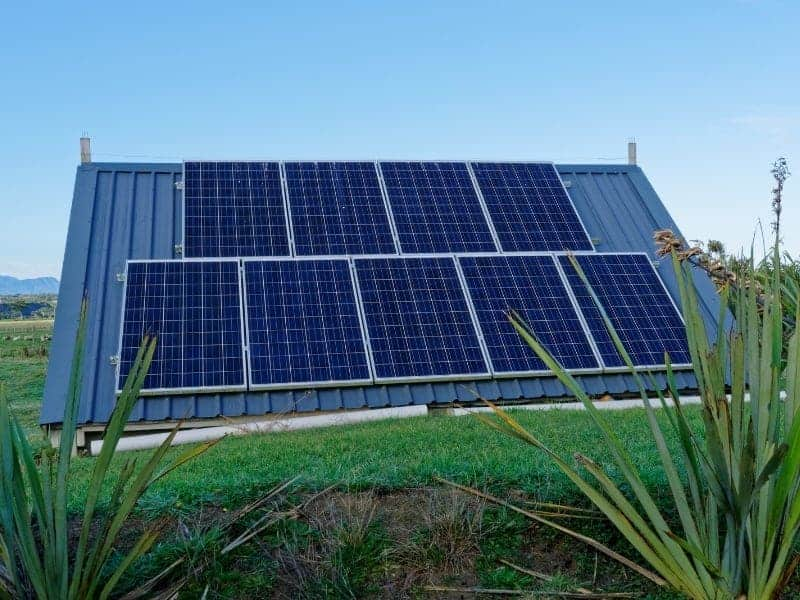 Solar Panels on a roof off grid