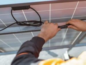 Wiring under solar panels